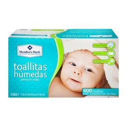 Toallitas Húmedas Member's Mark Paquetes de 100 U x 6