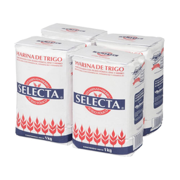Harina de Trigo Selecta 1 Kg x 4
