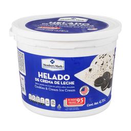 Helado de Crema Member's Mark Cookies & Cream 4.73 L