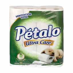 Papel Higiénico Pétalo Ultra Care 40 U