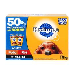 Alimento Para Perro Pedigree Adulto 150 g x 12
