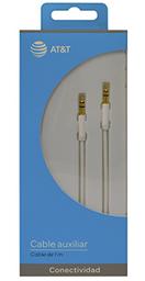Cable Auxiliar De 1 Metro Marca At&T Color Blanco