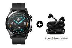 Huawei Gt 2Da Generación Negro Con Audifonos Freebuds Lite Negro