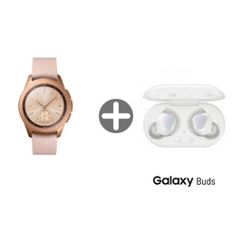 Samsung Galaxy Watch Rosa 42Mm Con Audifonos Galaxy Buds Blancos