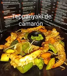 Teppanyaki de camaron