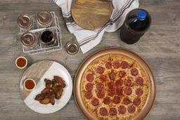 Paquete Pizza con Alitas