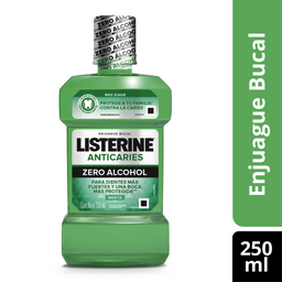 Enjuague Bucal Listerine Anticaries Zero Alcohol 250 mL