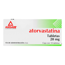Atorvastatina Amsa 10 Tabletas (20 mg)