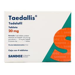 Taedallis 4 Tabletas (20 mg)