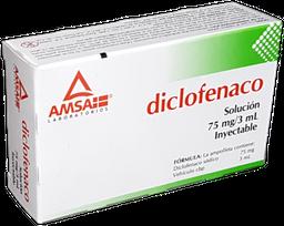 Diclofenaco 75 mg Amsa Solución Inyectable 2 Ampolletas