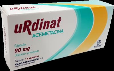 Comprar Acemetacina 90 mg Urdinat Liberación Prolongada 14 Cápsulas