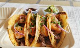 Taco Mar y Tierra (4 pzas)