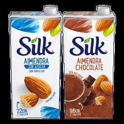 Rappicombo Silk Almendra Sin Azúcar + Silk Chocolate