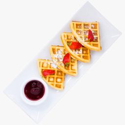 Waffle con Platano y Nutella