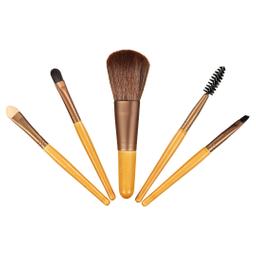 Set de Brochas Para Maquillaje de Carbón de Bambu Natural 5 U