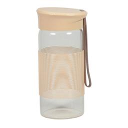 Botella de Cristal Con Cinta Para Colgar Khaki Capacidad 350 mL