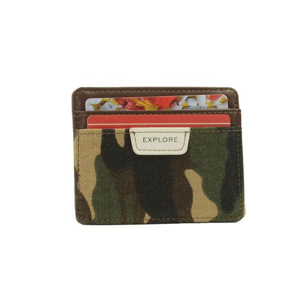Porta Tarjeta Fashion Para Hombre Camuflaje Verde