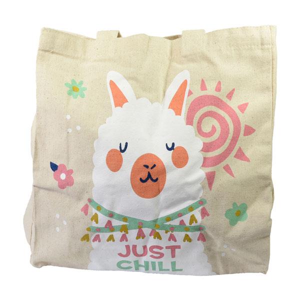 Bolsa de Algodón Para Niña Llama