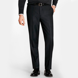 Pantalon Regent Fit de Lana Stretch Negro
