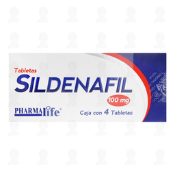 Sildenafil 100mg Pharmalife 8 Tabletas
