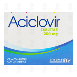 Aciclovir 200mg Pharmalife 25 Tabletas