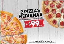Combo 2 Pizzas Medianas