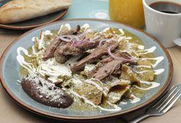 Chilaquiles Tradicionales con Arrachera