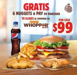 Combo Whopper + Pay de Manzana