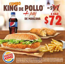 Combo King de Pollo y Pay de Manzana