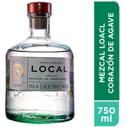 Mezcal Local Corazon de Agave Botella 750 mL