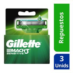 Gillette Cartuchosmach3 Sensitive Para Maquina Afeitadora