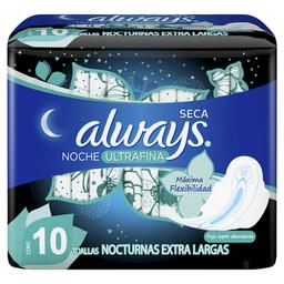 Always Toallas Femeninas  Ultrafina Noche