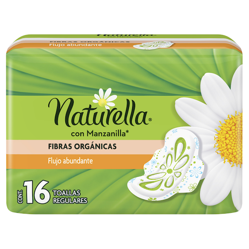 Naturella Toallas FemeninasC Manzanilla Regular Con Alas