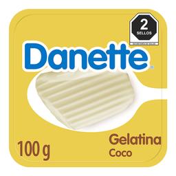 Gelatina A Base De Leche Danette Coco 100G