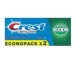 Crest Pasta Dentalcomplete Blancura Scope