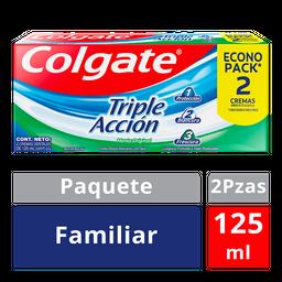 Colgate Pasta Dental Triple Acción Familiar 2 U