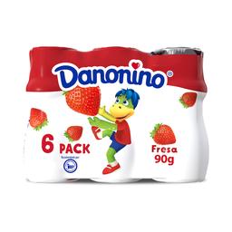 Alimento Lacteo Danonino Bebible Fresa 6 X