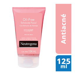 Exfoliante Facial Neutrogena Oil Free Extracto De Toronja 124 Ml
