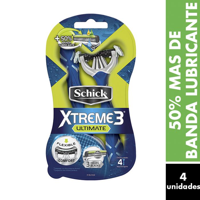 Schick Rastrillo Xtreme3 Ultimate Desechable 4Pz