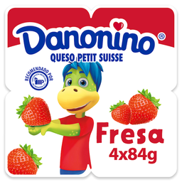 Queso Petit Suisse Danonino Con Fresa 4 X
