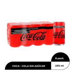 Coca-Cola Sin Azucar Refresco 8-Pack Lata