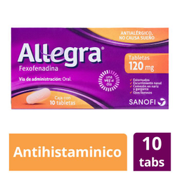 40%OFF en 2°U Allegra Antihistamínico de 120 Mg