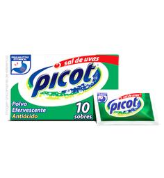 Picot Sal De Uvas Polvo 10 Sobres Bicarbonato De Sodio 2.485 G