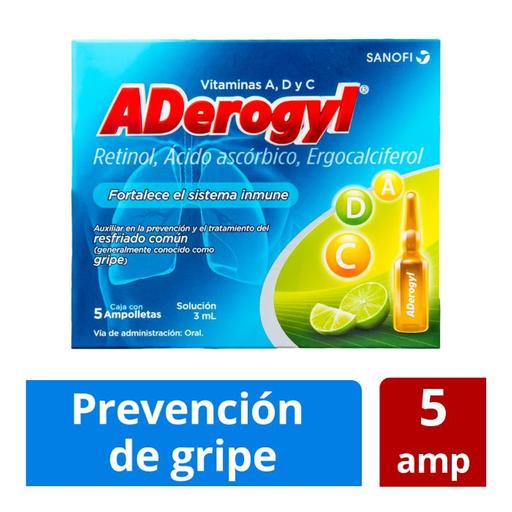 Aderogyl Sanofi AventisSolución Oral En Ampolletas De 3mL