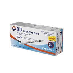 Bd Ultra-Fine Jeringas Para Insulina (0.5Ml X 6Mm)