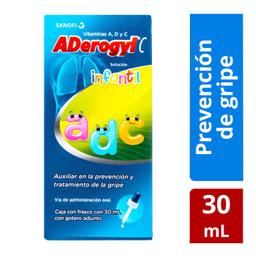 Sanofi Aventis Aderogyl C Infantil Con Vitamina A, D Y C