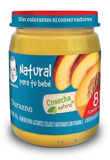 Gerber Cosecha Natural Durazno Etapa 3 .