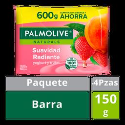 Palmolive Naturals Jabón En Barra Yoghurt Y Frutas 4 U