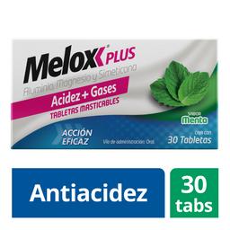 Melox Plus Menta 30 Tabletas Hidróxido de aluminio 200 mg