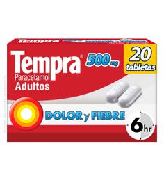 Tempra Reckitt Benckiser 20 Tableta(S) Caja Paracetamol 500 Mg